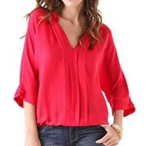 Joie Marru Silk Blouse top Currant size small